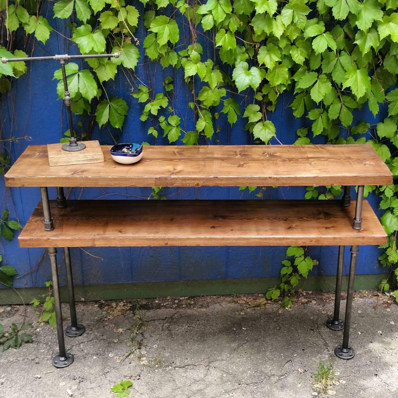 Industrielle En Acier Et Bois Meuble Tv Table Console En # Meuble Console Pour Tv