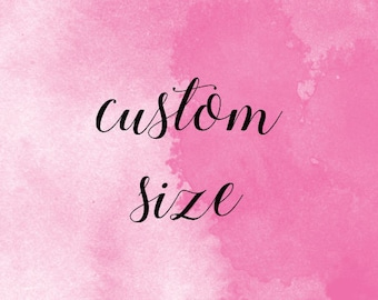 Custom size ADD ON