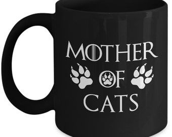 Mother Of Cats Mug Black 01 Cat Mug Gift
