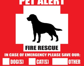 ... Pet-Alert-Safety-Fire-Rescue-Sticker-Save-Our-