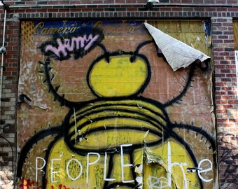 Idea Bee Graffiti, 8x10 Matted Photograph