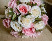 Natural ivory and pink si...