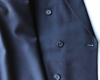 Vintage Tom James Navy Blue Double Breasted Blazer Jacket
