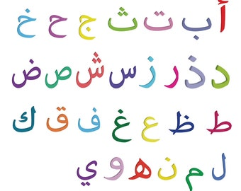 Instant Download! Arabic alphabet , Arabic letters