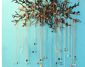 Metallic Branch Large Jewelry Display