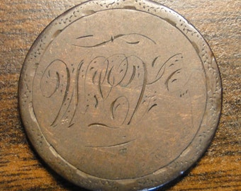 1833 Large Cent Love Token - Scarce Item!  #615