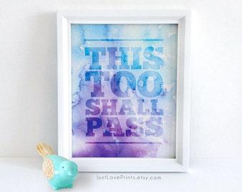 This Too Shall Pass | Catholic Art | 8x10 Print