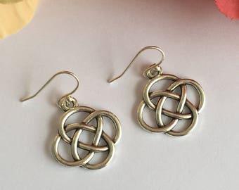 Antique Silver Celtic Earrings.