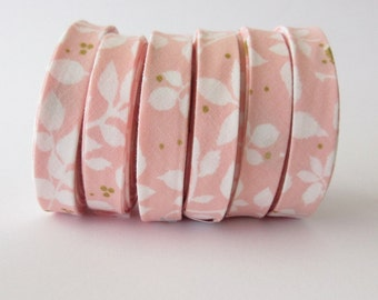 Bias Tape - 1/2 inch Double Fold - Brambleberry Ridge Metallic Blossom - 3 yards