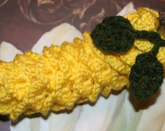 CROCHET PATTERN - Crocodile Stitch Banana Cozy