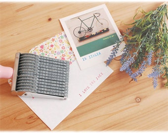 Rolling Stamp V.2 - Alphabet &  Number / card, diary, gift Box, letter, name marking
