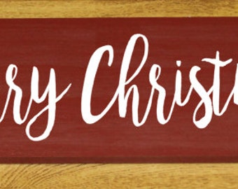 Merry Christmas wood sign - Christmas decor