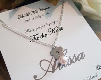 Flower girl necklace, Flower girl gift, Beautiful flower girl, Personalized flower girl Gift, junior bridesmaid, flower girl jewellery,