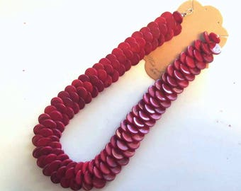 Red Coral Dragon Scale Necklace
