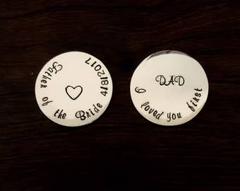 Set of 2 golf ball marker Father of the Bride gift from Bride Unique gift
