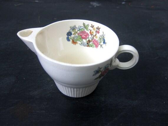 Mid Century Milk Creamer Floral Patter Kitchen Decor Animal Dish Cup Salem China