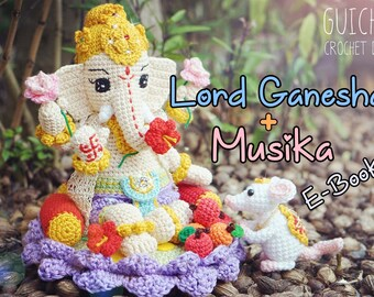 Lord Ganesha + Musika Pattern, Crochet Doll Pattern (Guichai Dolls Pattern, Amigurumi) Tutorial