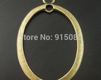 bronze hollow Oval Pendant, 29 * 43 * 2 mm