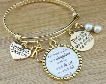 Gold Bangle Mother of the Bride Gift Mother of the Bride Bracelet Mother of the Bride Jewelry Mother of the Bride Gift From Groom