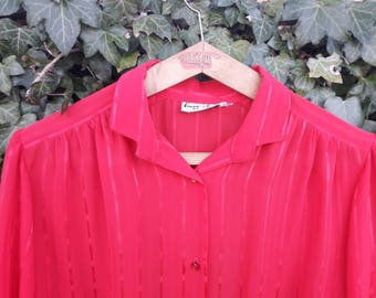 Pretty flaming red blouse