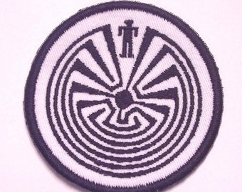 Man in the maze 3 inch embroidered patch