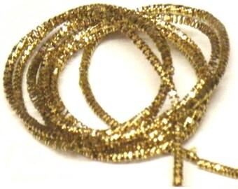 Bright champagne gold metallic french wire/purl/gimp