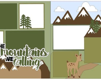 "Scrapbook 2 Page Layout ""The Mountains are Calling"""