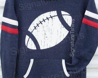 Football sweater - Girly Pullover - Football Off Shoulder - Womens Sweatshirt -  Sport Eco Fleece Sweatshirt - Christmas sweater