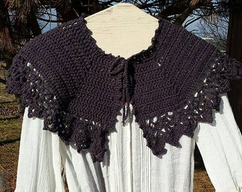 PDF Crochet PATTERN for Showingtime Afternoon Tea Capelet