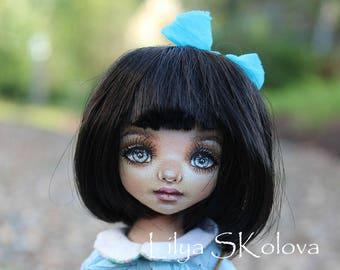 Textile doll mtilda doll  interior doll fabric doll portrait doll cloth textile doll текстильная кукла selfie doll portrait doll