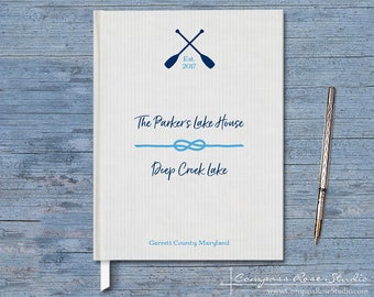 Lake House Guest Book, Vacation Home Guest Book, Nautical Summer Home Guest Book, Welcome Guest Book, Rental Property, Housewarming Gift