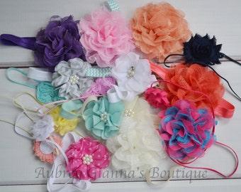 Headband Grab Bag- Set of Four- Newborn headband- Toddler headband- Hair bow- Infant headbands- newborn hair bow- newborn photo prop- bow