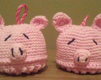 Bath Pouf, Pig Pouf, Pig Scrubby, Crochet Pouf, Animal Bath Pouf, Cotton Bath Scrubby, Bath Toy, Bath Poof, Animal Poof, Washcloth, Piggie