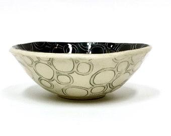 Hand Built Ceramic Organic Circle Bowl