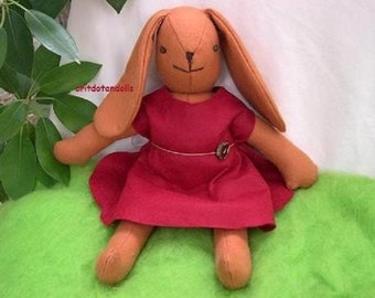 Bunny rabbit, 16inch made of natural materials for all ages, soft hugable toy