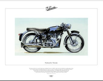 VELOCETTE VENOM - Motorcycle Fine Art Print 500 Single