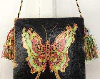 Butterfly Cigar Box Purse