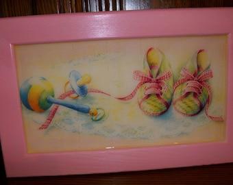 Cadre cadeau de naissance fille ou garçon