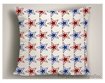 American Flag Decor, Patriotic Decor, 4th of July Decor, American Flag, Patriotic Pillows, Stars and Stripes, Red White and Blue Pillow