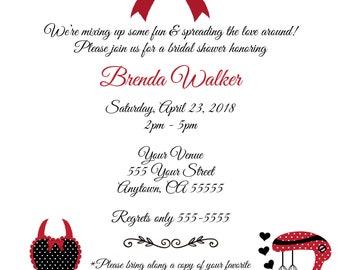 Kiss the Cook Printable Bridal Shower Invitation