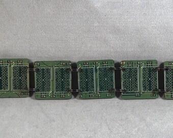 Computer Circuit Board Link Bracelet - Link Bracelet - Bracelet - Green - Technology - Avant Garde -