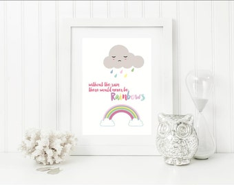 Rainbow Wall Art, Nursery Decor, Modern Nursery Art