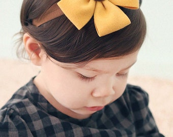 Flower headband for baby yellow