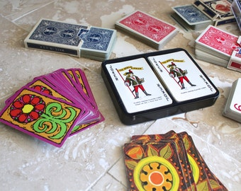Large lot of playing cards - swap cards - playing cards for crafting - vintage playing cards