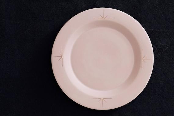 & Blush Pink Porcelain Dinner Plate with 22k Gold Celestial