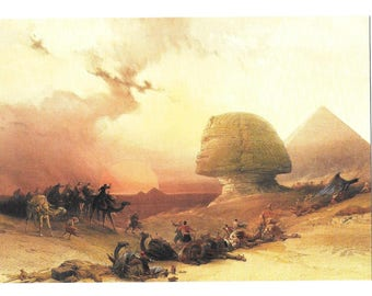 Art card -  Modern sized - The Sphinx by Louis Haghe,lithographer 1848- Reproduction unused   #7073