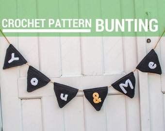 Crochet Bunting Pattern - PDF Digitial Download