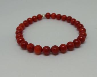 Beaded Bracelet/ Red Beaded Bracelet/ Layering Bracelet/ Trendy Bracelet