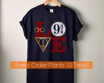 Harry Potter Shirt, 9 3/4 Shirt, Marauders Shirt, Harry Potter, HP, Novelty Shirts, Book Worm, Book Lover, Potterhead