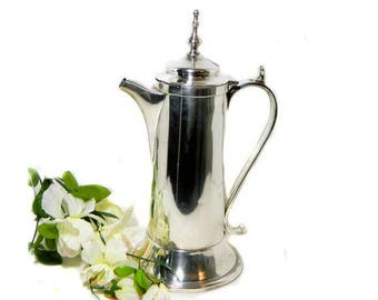 Antique E. G. Webster & Son Tall Silverplate Coffee Serving Pot